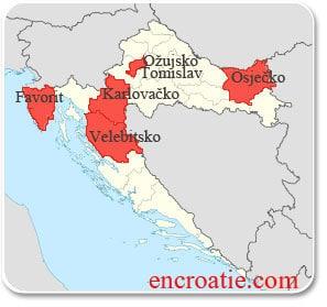 Carte des bieres de Croatie