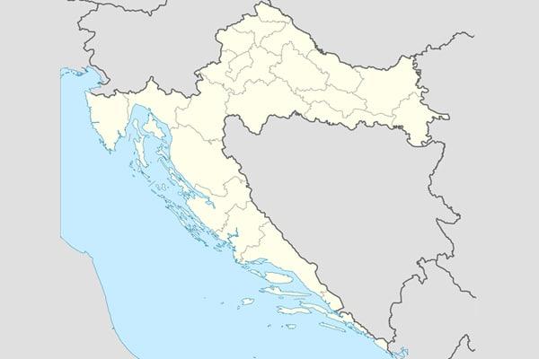 Carte Croatie A Telecharger.Carte De La Croatie Cartes Detaillees Des Regions Carte