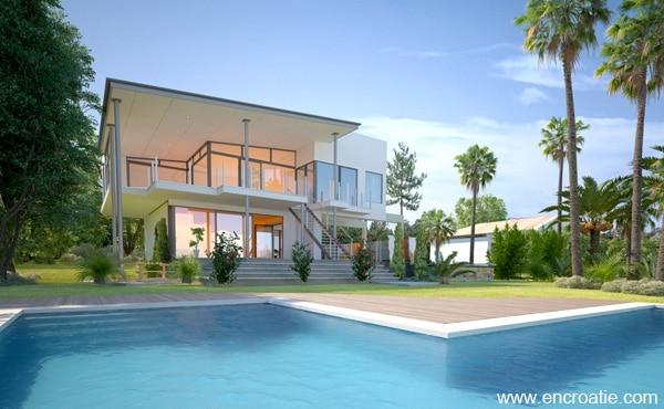 Location de villa en croatie louer une villa de luxe avec piscine for Location villa
