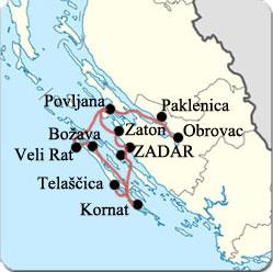 Croatie - Croisiere de Zadar