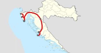 Itinéraire 7 j. Istrie-Zadar