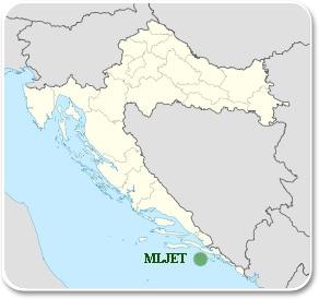 Mljet - Carte