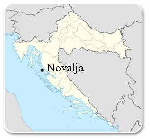 Novalja - Carte
