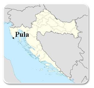 Pula - Carte