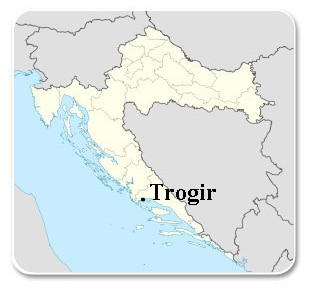 Trogir - Carte