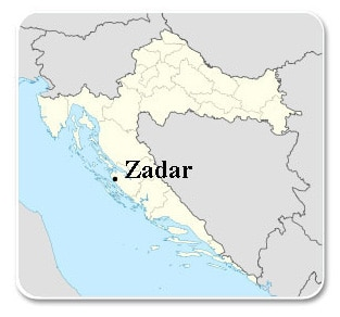 Zadar - Carte
