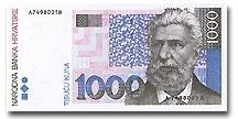 Billet de 1000 kuna