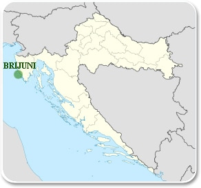 Brijuni - Carte