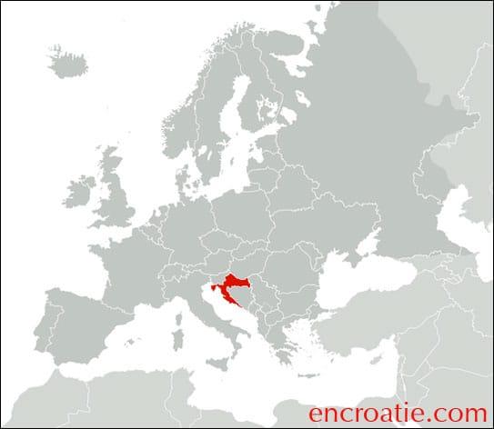 Carte Croatie - Europe
