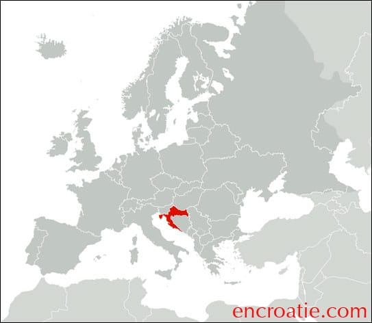 Carte Croatie - Europe
