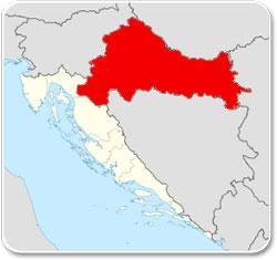 Croatie continentale - Carte