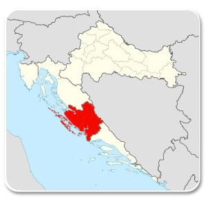 Dalmatie du nord - Carte