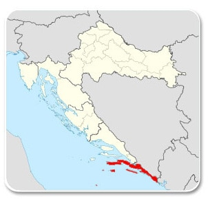 Dalmatie du sud - Carte