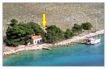 Location de maison de pecheur a Kornati