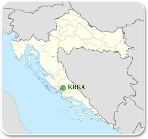 Krka - Carte