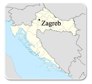 Zagreb - Carte