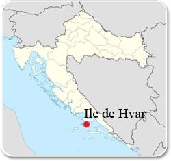 Ile de Hvar - Carte
