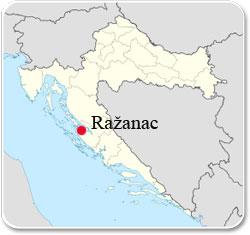 Ražanac en Croatie - Carte